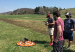 Virginia Tech students use drones in soil moisture research project