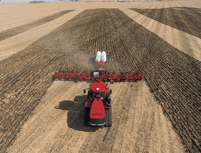 Case IH tractor with guidance