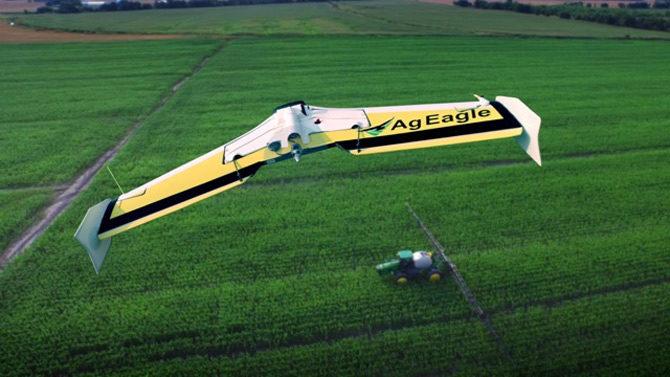 AgEagle in field