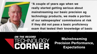 [Technology Corner] Mainstreaming Precision Performance, Expectations