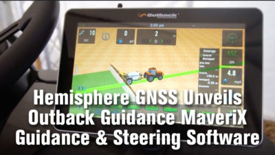Hemisphere GNSS Unveils Outback Guidance MaveriX Guidance & Steering Software