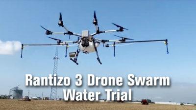 Rantizo 3 Drone Swarm Water Trial